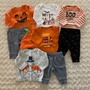 0-3m Carter's Halloween/Thanksgiving bundle